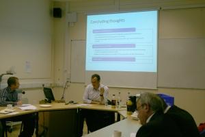 In full flow at the seminar